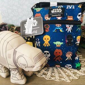 🏷🆕Loungefly Star Wars Disney Chibi Crossbody